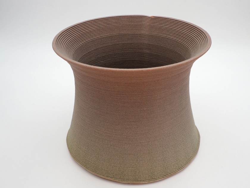 Blue Cycle - Soft Earth Vase