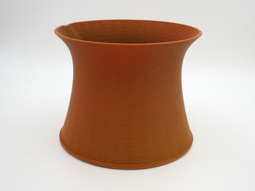 Blue Cycle - Bright Rust Vase